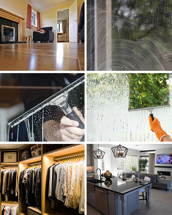Family Home and Office Cleaning Services Collage